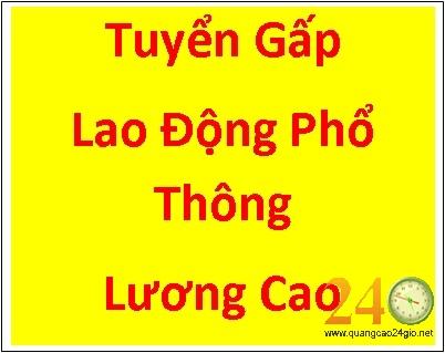 Tuyển Lao Động Phổ Thông Tại Hà Nội