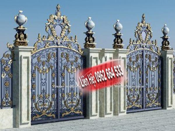 báo giá cổng 2 cánh