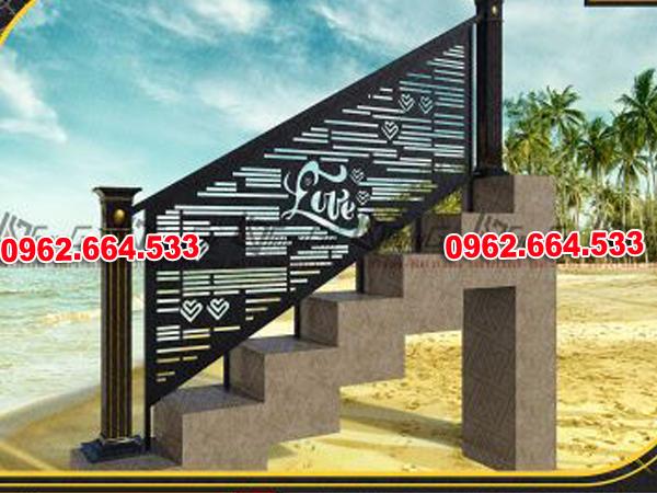 Lan Can Cầu Thang Sắt mỹ Thuật Cắt CNC 026