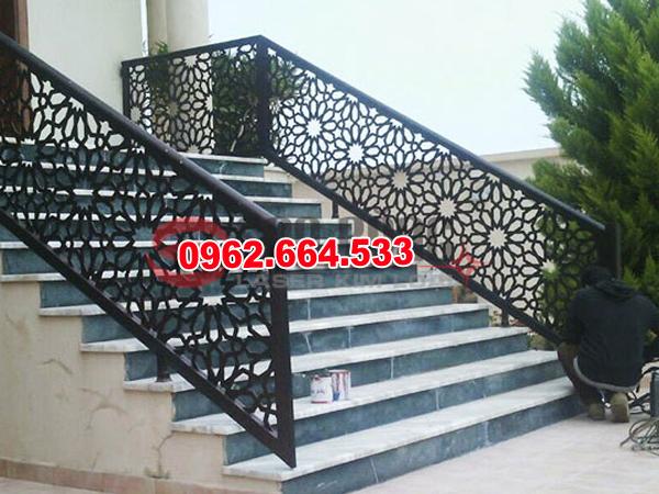 Lan Can Cầu Thang Sắt mỹ Thuật Cắt CNC 035