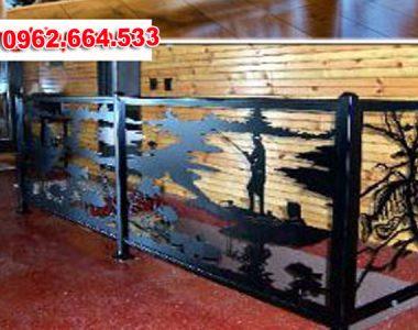 Lan Can Cầu Thang Sắt mỹ Thuật Cắt CNC 039