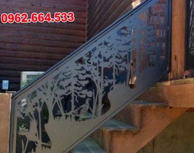 Lan Can Cầu Thang Sắt mỹ Thuật Cắt CNC 040