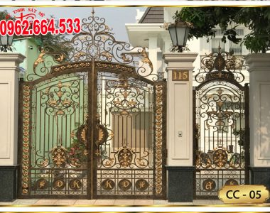 Các Mẫu Cửa Cổng Sắt Mỹ Thuật Và Hàng Rào Sắt Nghệ Thuật Đẹp Nhất