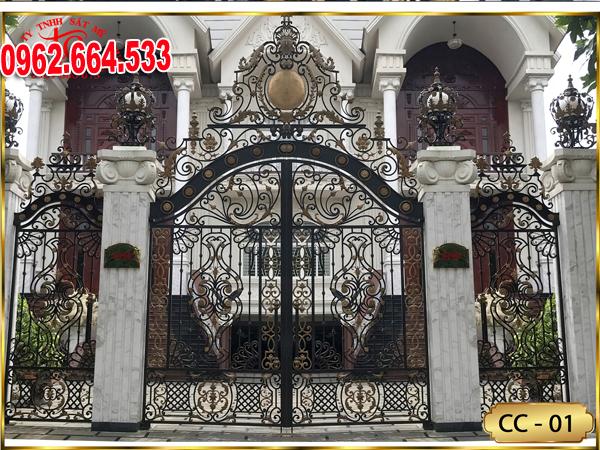 Cửa Sắt Mỹ Thuật – Cửa Cổng Sắt Nghệ Thuật CS132