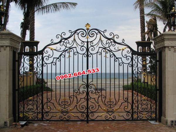 cửa cổng sắt nghệ thuật